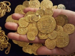 On July 30 and 31 off the coast of Vero Beach, Brent Brisben, who is captain of the S/V Capitana, and his crew recovered 350 gold coins. Nine of the coins found are known as Royals and valued at $300,000 apiece; these were specially made for the king of Spain, Phillip V, in the early 1700s. The total value is said to be over $4,000,000.